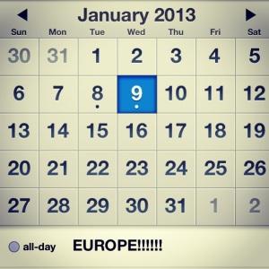Europe Time!